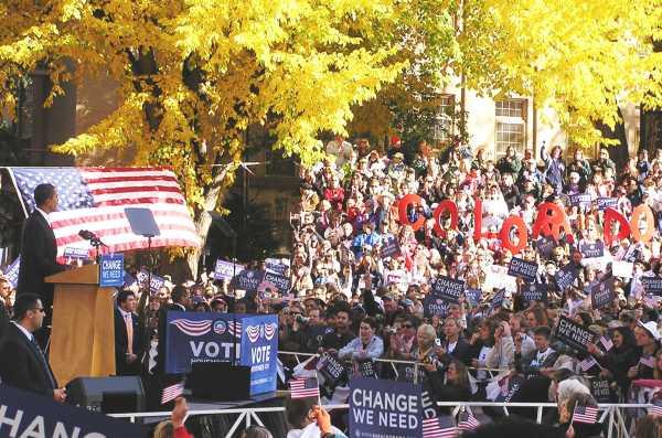 Barack Obama in Fort Collins 2008 by TVS