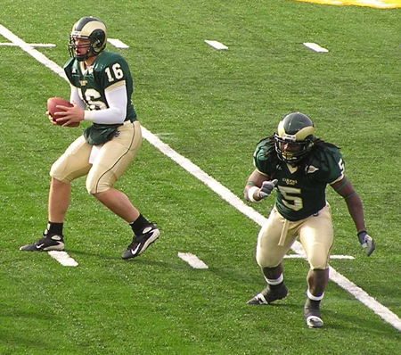 CSU Rams Caleb Hanie and Gantrell Johnson 2007 by TVS