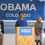 Obama Welcome w Randy Fischer, John Kefalas 2012 by TVS