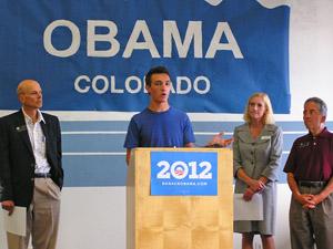 Obama Welcome w Randy Fischer, John Kefalas 2012 by TVS